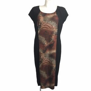 Ashro animal print sheath dress. Size 1X